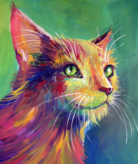 colorful cats colorful cat 3 by san t on deviantart