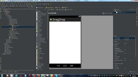 android studio add new layout text design tab missing new android project on android