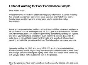 Warning Letter Template For Poor Performance by Letter Of Bad Behavior Template The Knownledge