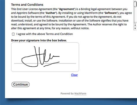 electronic signature template electronic signature on your forms html form builder