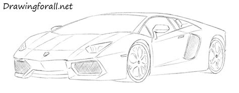 How To Draw A Lamborghini Step By Step How To Draw A Lamborghini Drawingforall Net