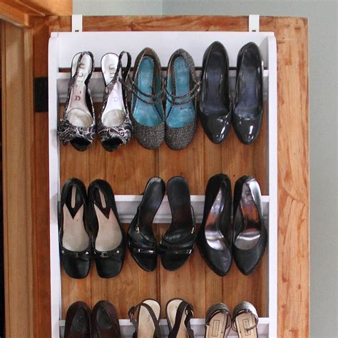 shoe storage diy white diy crown molding shoe organizer for heels