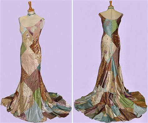 Patchwork Wedding Dress - weddingprocourses the mold coloured wedding