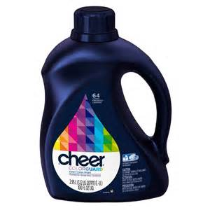 cheer color guard 100 oz he liquid laundry detergent 64