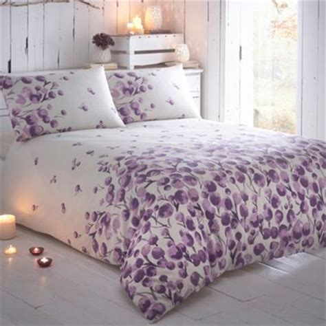 bhs bed linen sale rjr rocha designer purple raydi floral border