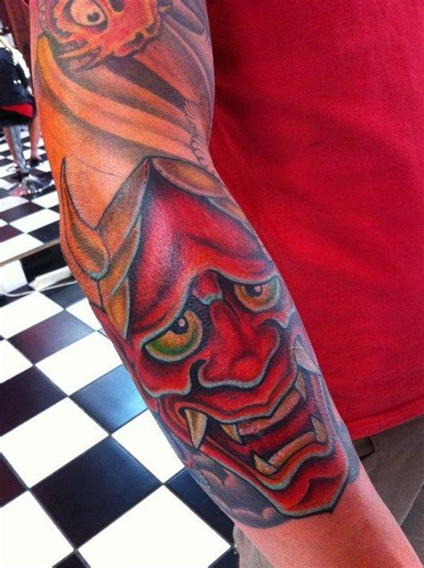 hannya mask tattoo gallery hannya mask tattoo by damien wickham tattoonow