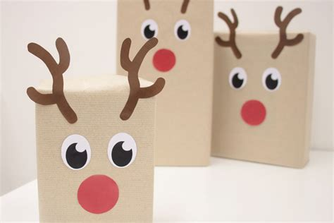 diy reindeer gift wrapping free printables party