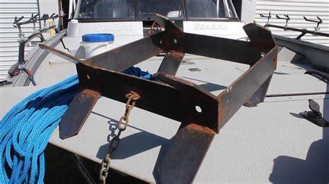 boat anchor diy box anchor the affordable diy catfish boat anchor