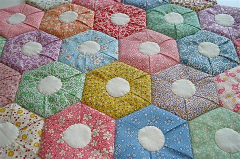 Patchwork Hexagon Patterns - hexagon patchwork quilt patterns