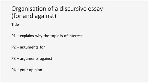 Discursive Essay Structure by Cpe Sle Writings How To Write An Essay