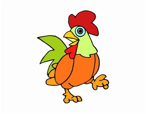 animali da cortile da colorare disegno gallo di cortile colorato da utente non registrato