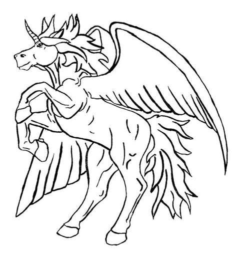 coloring pages of unicorns and pegasus pegasus unicorn coloring pages grig3 org