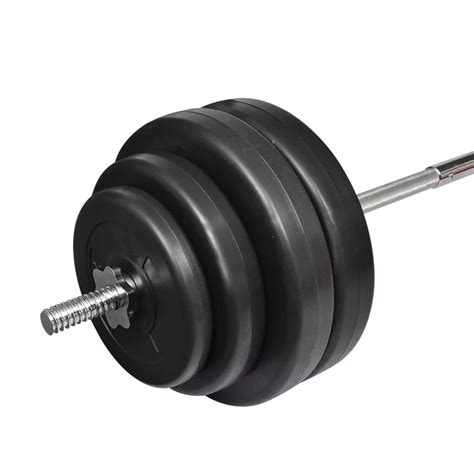 Plate Barbell Vidaxl Co Uk Barbell With Plates Set 60 Kg
