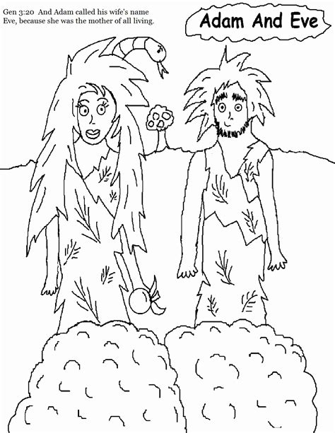 Coloring Page Adam And by Free Bible Coloring Pages Of Adam And Coloring Home