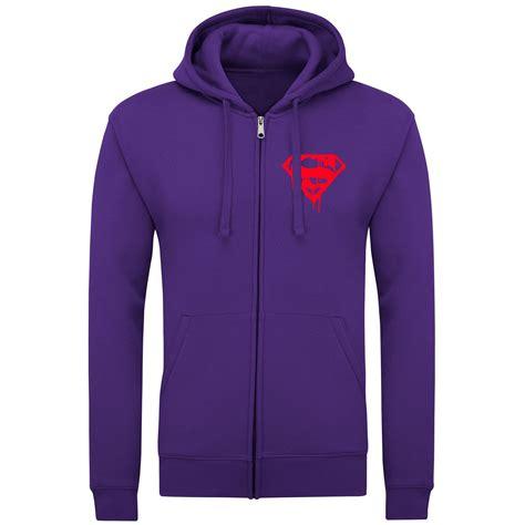 Hoodie Zipper Woven War Logo mens superman liquid logo zipper fleece hoodie womens