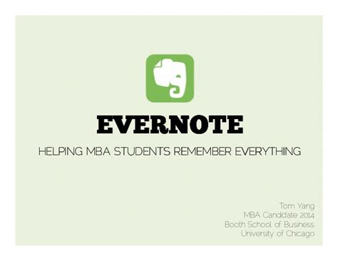 Useful Courses For Mba Students by Evernote For Mba Students