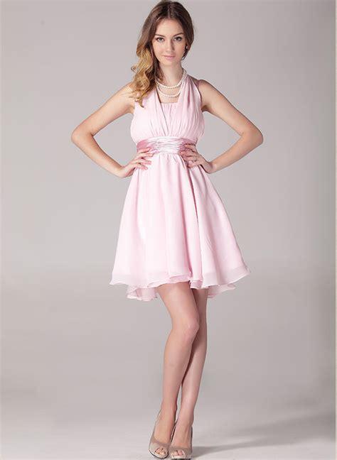 Simoneta Original Pink Dress Size 9 ribbons back straps halter pink dress on luulla