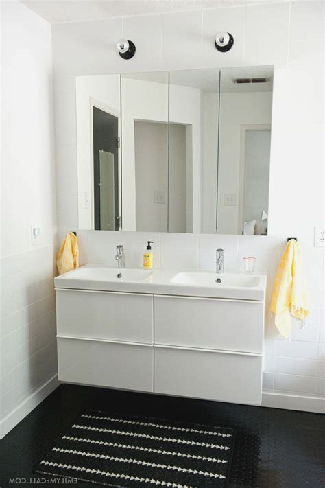 ikea high gloss white master bathroom with ikea godmorgon