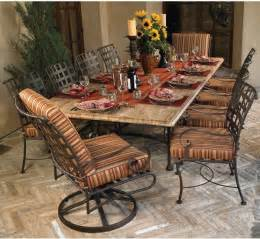 wrought iron outdoor dining table and chairs