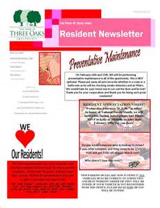 Apartment Community Newsletter Templates by The Park At Three Oaks Apartment Homes March 2013