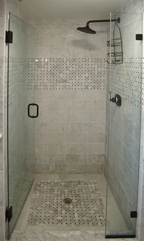Small Bathroom Shower Tile Ideas Tile Shower Picture To Pin On Thepinsta