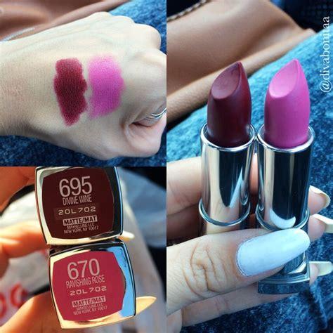 Maybelline Lipstick Matte new maybelline matte lipsticks divabonitaa