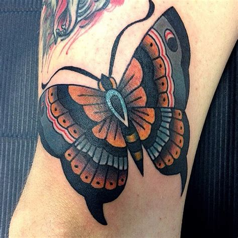 butterfly tattoo traditional butterfly traditional tattoo by dap skingdom tattoo shop