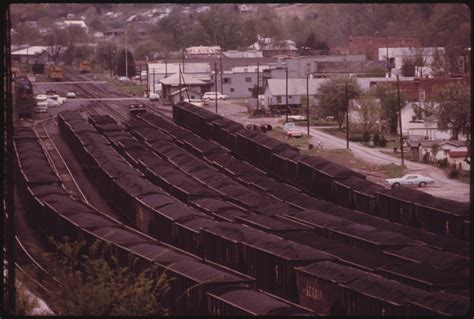 Records Charleston Wv File Coal Yard With Loaded Rail Cars Ready To Be Shipped