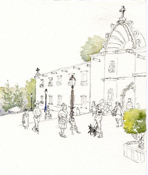 Watercolor Tutorial Sketch   urban sketching tutorial watercolor over pen and ink