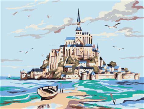 Canevas Le Mont St Michel Canevas Broderies