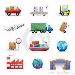 Cargo And Logistics Management Australia Industry Logistics Icon Set Royalty Free Stock Photos
