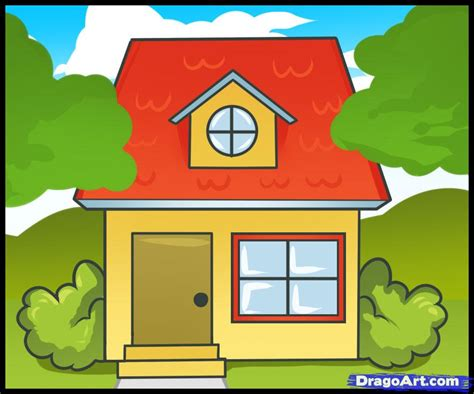 how to draw a house for step by step buildings