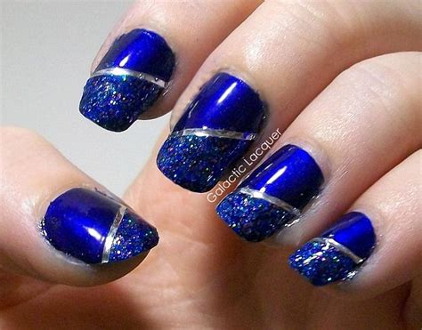 dashing blue and silver nails picsmine
