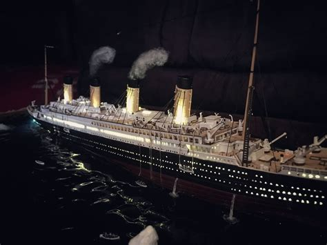 model boat sinking titanic sinking diorama titanic 1 700 sinking diorama