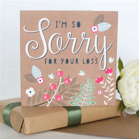 sorry for your loss sorry for your loss card by allihopa notonthehighstreet