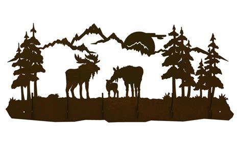 Moose Coat Rack by Moose Family Six Hook Metal Wall Coat Rack