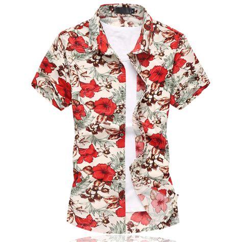 Flower Shirt Isn 2017 summer mens flower shirt style sleeve