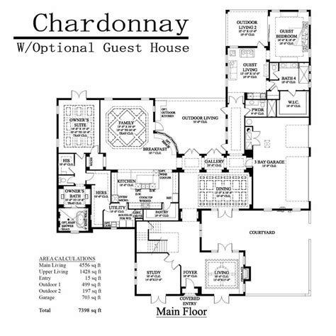 house plans with guest house attached floor plans with attached guest house house plan with guest quarters guest house floor