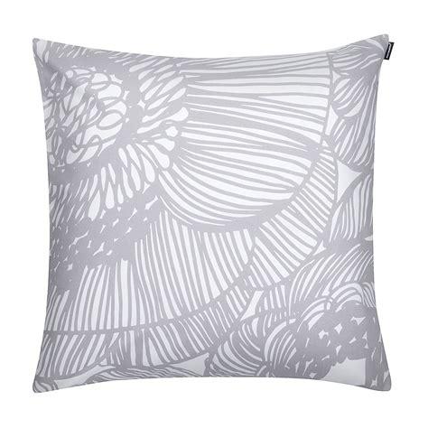 marimekko geranium white grey throw pillow marimekko