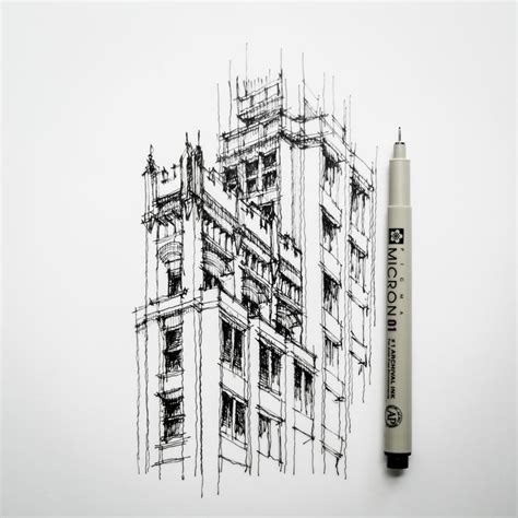 B Arch Sketches by Featured Artist And Designer Dan Hogman Architect