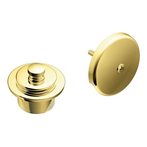 moen tub and shower drain covers in polished brass t90331p