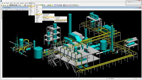 layout process in animation 3d process plant design software bentley plantwise