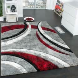 teppich rot grau teppichcenter24