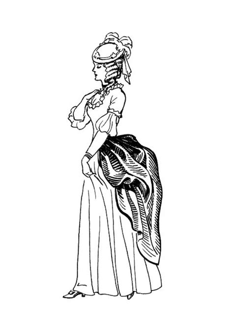 victorian coloring pages of women s dress colouring