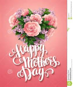 happy mothers day card with beautiful flowers stock vector image 52023177