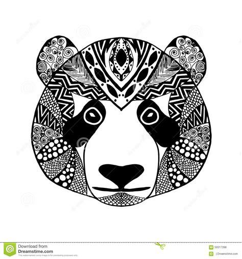 panda kopf tattoo zentangle stylized panda sketch for tattoo or t shirt