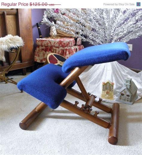 vintage kneeling chair ergonomic chair teak wood balans chair danish modern teak vintage