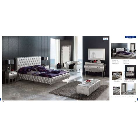 silver bedroom furniture sets reflect a clean and lorena 4 pcs modern silver bedroom set bed dresser mirror