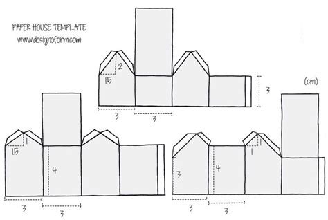 Paper Folding House Template - 132 best snow images on putz