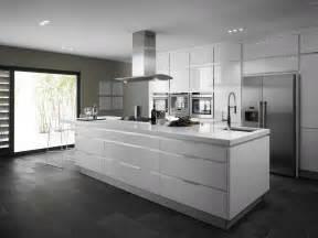 Striking white kitchens with dark wood floors gallery